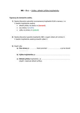 M6 – D.ú. – Výška, střední příčka trojúhelníku