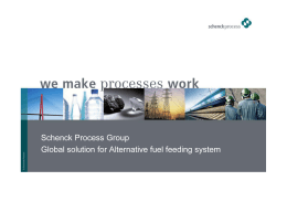 Schenck Process Group Global solution for Alternative fuel feeding
