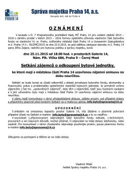 Správa majetku Praha 14, a.s.