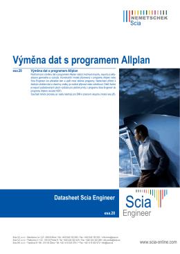 Výměna dat s programem Allplan