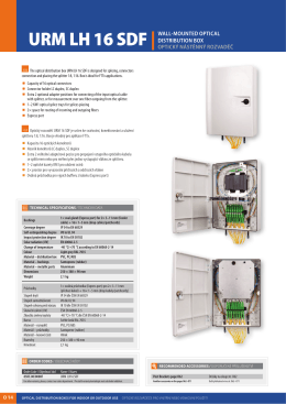 URM LH 16 SDF |WALL  MOUNTED OPTICAL DISTRIBUTION BOX