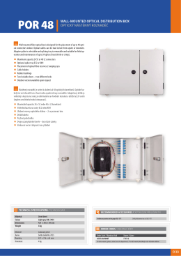 por 48 |wall  mounted optical distribution box