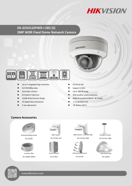 DS-2CD2122FWD-I (W) (S) 2MP WDR Fixed Dome Network Camera