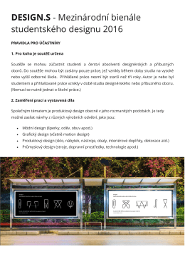 DESIGN.S - Mezinárodní bienále studentského designu