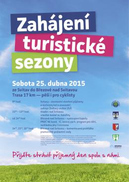 SVITAVY_zahajeni turisticke sezony 2015_PLAKAT