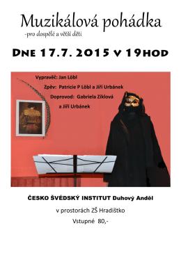 Plakát Muzikálová pohádka 17.7