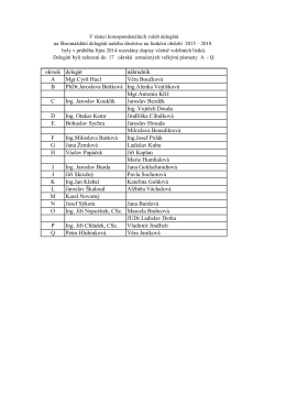 Seznam delegátů