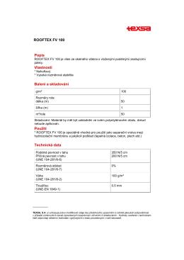 ROOFTEX FV 100- cze - uzitecna