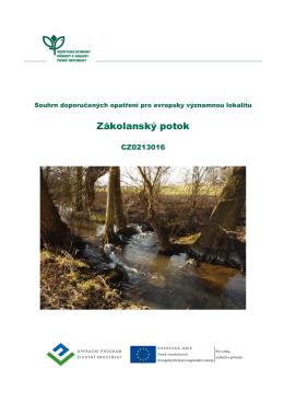 Zákolanský potok, CZ0213016