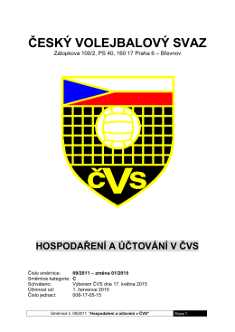 09-11 Hospodaření a účtování v ČVS