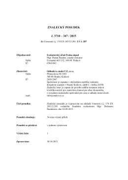 znalecký posudek 185-12