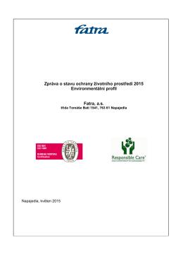 Zpráva o stavu ochrany životního prostředí za rok 2015
