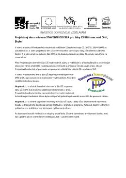 Projektový den 18. 2. 2015 ZŠ Školní, Klášterec nad Ohří