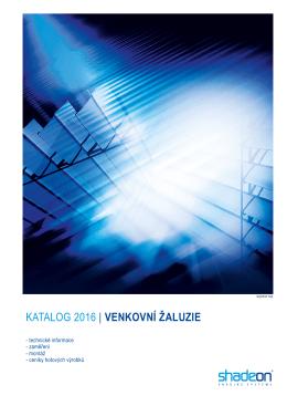 Katalog venkovní žaluzie SHADEON.cdr