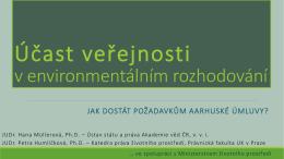Účast veřejnosti - Ústav státu a práva AV ČR