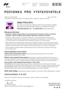 Cenové - EXPO-Consult+Service, spol. s ro