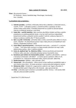 Zápis z jednání OV Václavice 26.5.2015 Účast