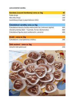cukrovinky - ceník zde