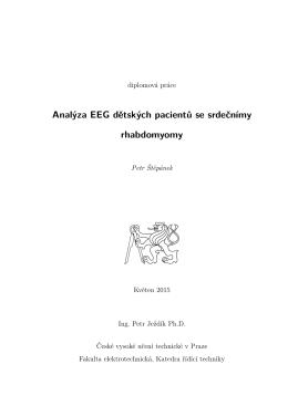 Analýza EEG dětských pacientů se srdečnímy rhabdomyomy