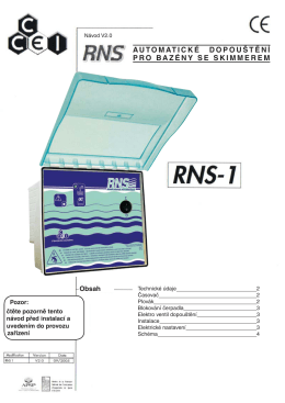 RNS-1 Regulátor hladiny s miniplovákem »196kB