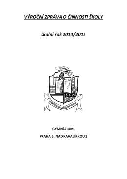 Výroční zpráva o činnosti školy 2014-15