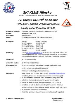 Suchý slalom Hlinsko