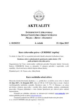 Aktuality č. 10/2015/2 - Společnost pro církevní právo