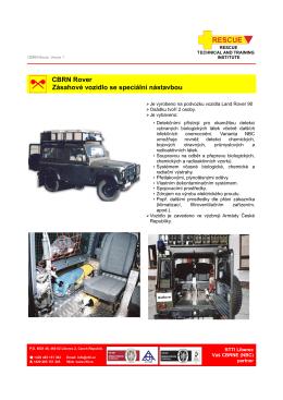 CBRN Rover Zásahové vozidlo se speciální nástavbou