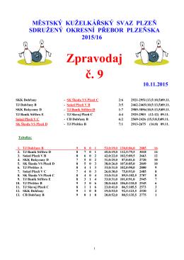 Zpravodaj č. 9 - Kuzelky Slavoj