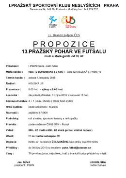 Propozice 13.Praz.pohar 7.11.15