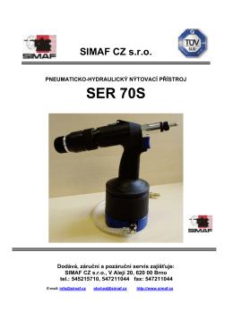 SER 70S - Simaf CZ sro