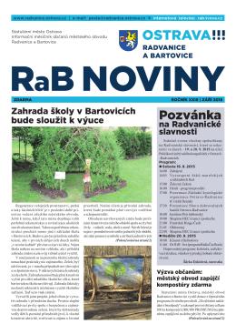 září 2015 - Radvanice a Bartovice