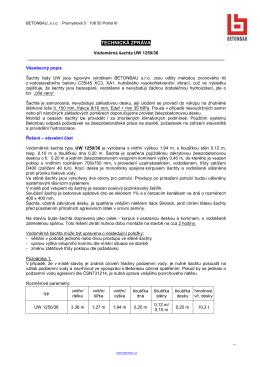 Technická zpráva Vodoměrná šachta UW1250 36
