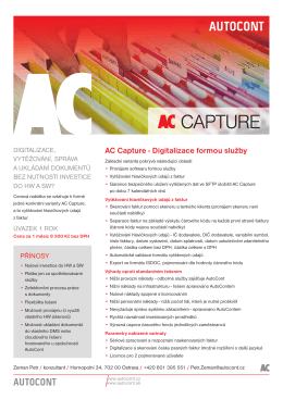AC Capture - Digitalizace formou služby