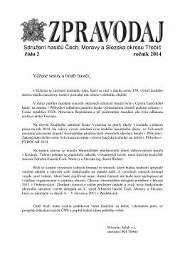Sdružení hasičů Čech, Moravy a Slezska okresu Třebíč číslo 2