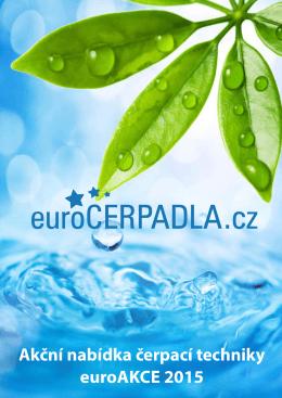 Akční nabídka čerpací techniky euroAKCE 2015