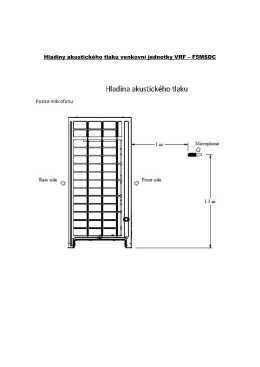 Hladiny akustického tlaku venkovní jednotky VRF