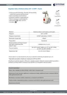 """Regulátor tlaku z hliníkové slitiny 3/8"""""""