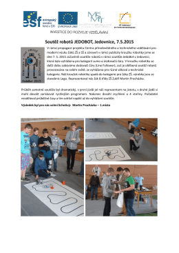 Soutěž robotů JEDOBOT, Jedovnice, 7.5.2015