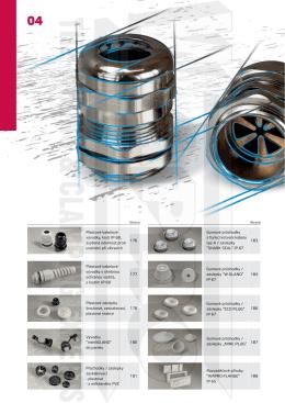 Kapitola 4 - kabelové vývodky (plastové, gumové, kovové)