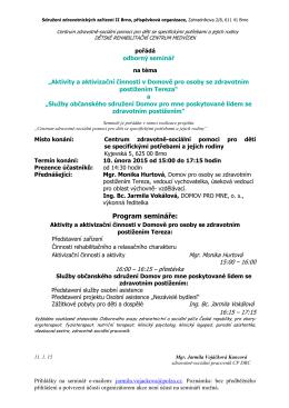 Ke stažení - Sdružení zdravotnických zařízení II Brno, příspěvková