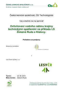 Podrobné informace o akci - Česká lesnická společnost