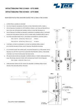 Informace o zakování závěsů pomocí šablon (6772 a 6773)
