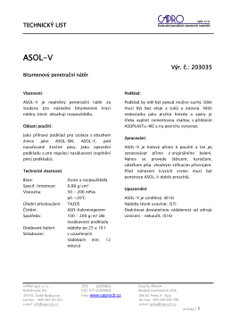 ASOL-V - CAPRO spol. s ro