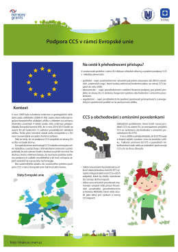 Podpora CCS v rámci Evropské unie