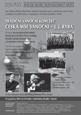 Česká mše vánoční.indd - Macek Music Management MOST