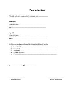 Předávací protokol – v pdf - Auto
