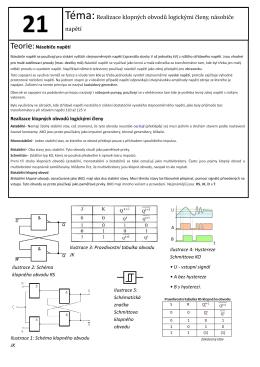 Téma:Realizace klopných obvodů logickými členy, násobiče napětí