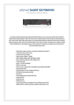 přijímač GoSAT GS7060HDi