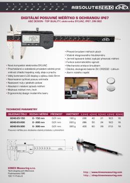6040-25 - Digitální posuvné měřítko s ochranou IP67